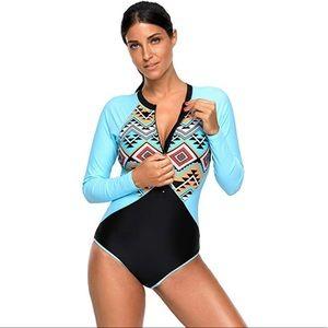 One piece Swimwear with zipper